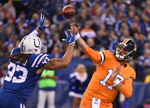 Denver Broncos versus the Indianapolis Colts